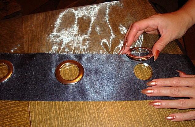 Как сшить занавески с кольцами 27