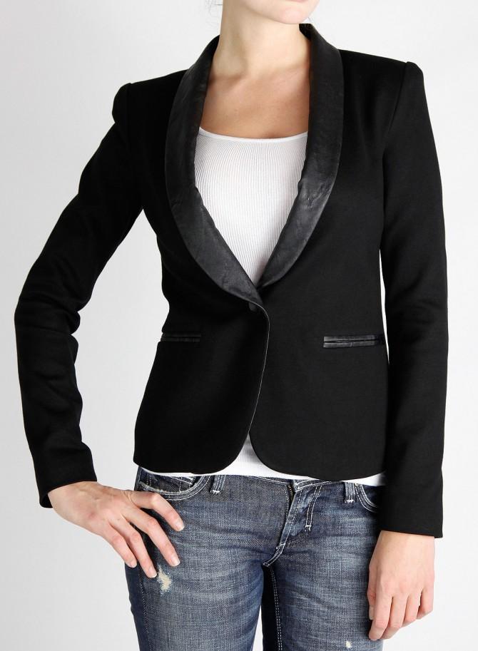 С чем носить темный пиджак 10