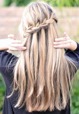 Схема плетения кос с лентами