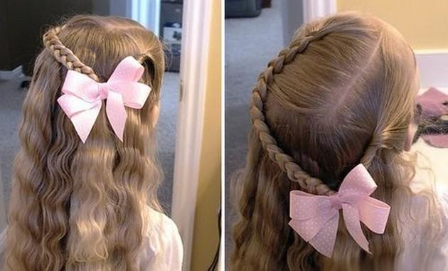 Причёска на 1 сентября с короткими волосами