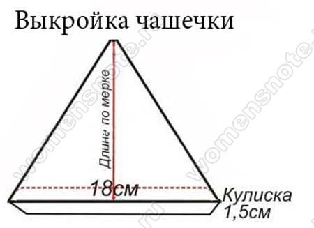 Бюстгальтер с треугольными чашечками сшить 59