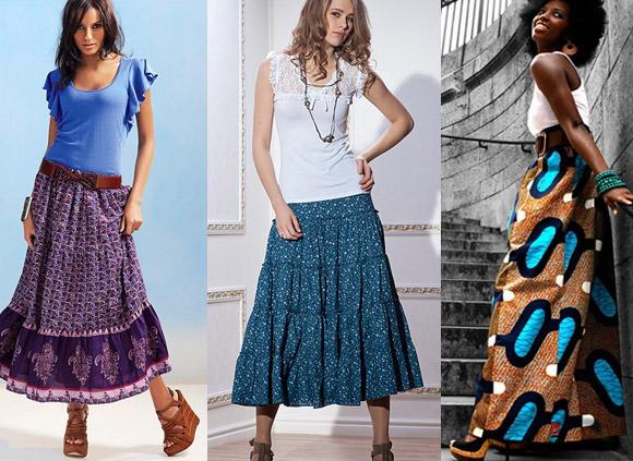 Как сшить модную длинную юбку