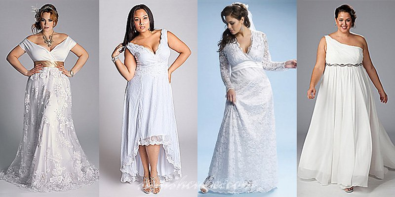 Фото платьев для полных на венчание