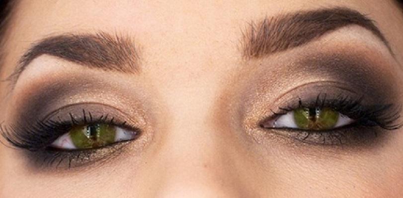 Макияж для темно-зеленых глаз пошаговое
