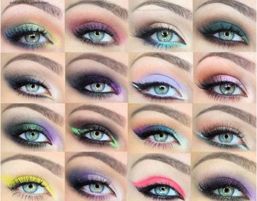 Какой цвет теней подходит к голубым глазам