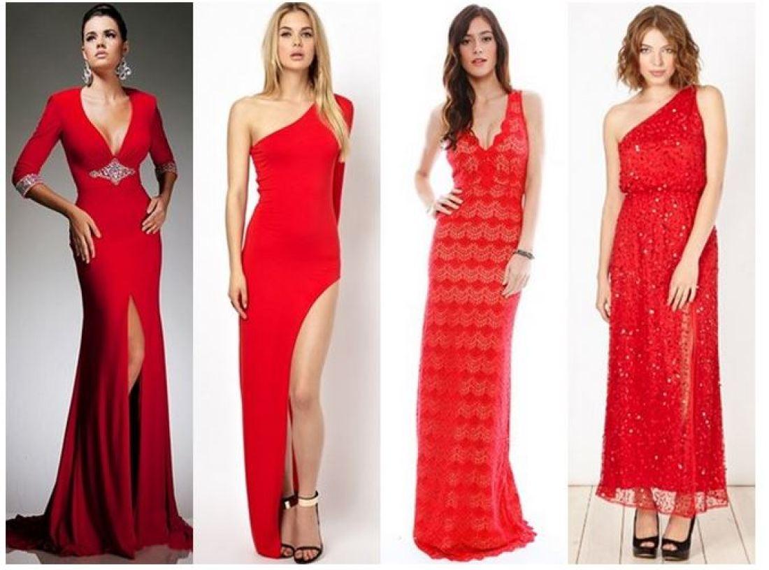Красное платье к новому году 2017
