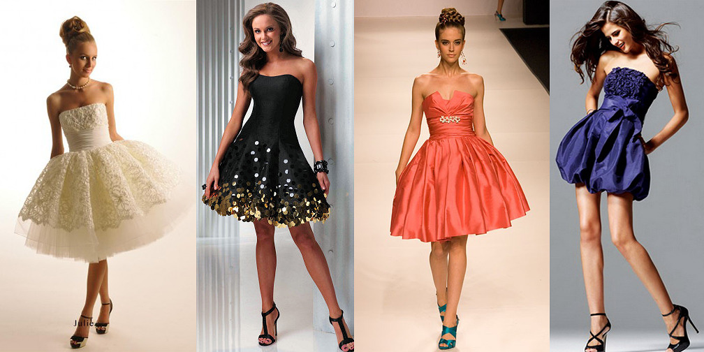 Красивые пышные платья на новый год